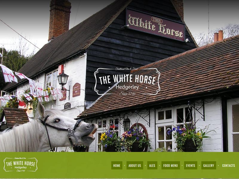 the white horse by FHML